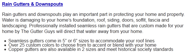 Rain Gutters | Rain Downspouts | TheGutterGuys.com