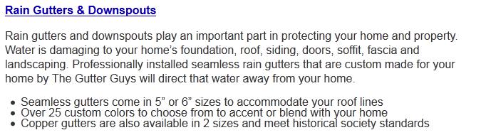Rain Gutters | Rain Downspouts | TheGutterGuys.com